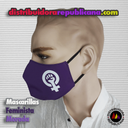 Mascarilla Feminista Morado