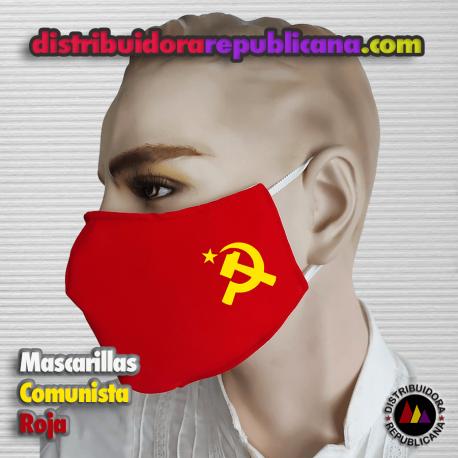 Mascarilla Comunista Roja