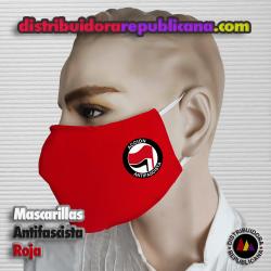 Mascarilla Antifascista Roja