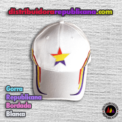 Gorra Republicana Bordada Blanca