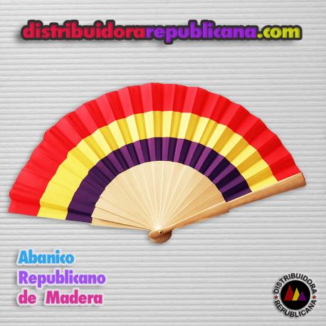 Abanico Republicano de Madera