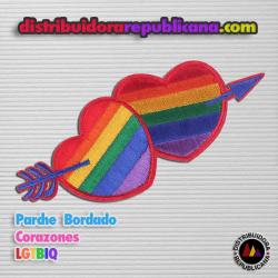 Bandera Corazones LGTBIQ