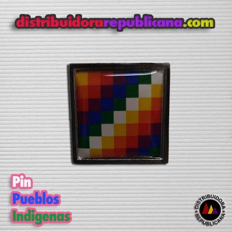 Pin bandera pueblos indigenas