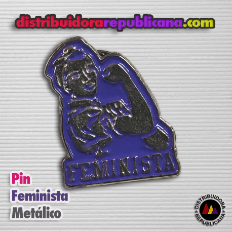 Pin Feminista Metálico