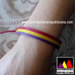 Pulsera Tricolor Hilo Grueso (Atar)