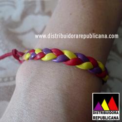 Pulsera Tricolor Trenzado Fino (Atar)
