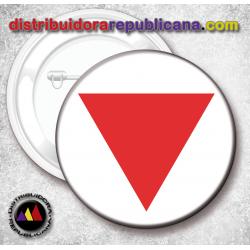 Chapa Triángulo Rojo Antifascista