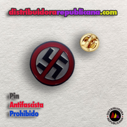 Pin Antifascista Prohibido