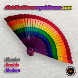 Abanico Arcoíris de Madera