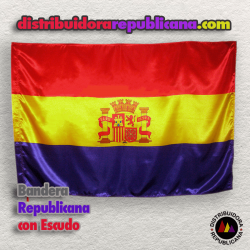 Bandera Republicana con Escudo