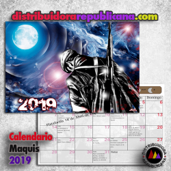 Calendario Maquis 2019