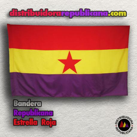 Bandera Republicana Estrella Roja (Mate)