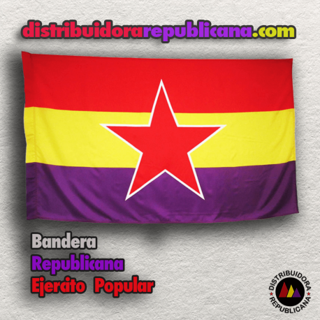 Bandera Republicana del Ejercito Popular (Mate)