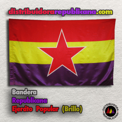 Bandera Republicana del Ejercito Popular (Brillo)