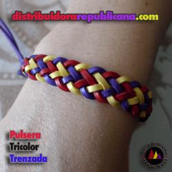 Pulsera Tricolor Trenzada (Atar)