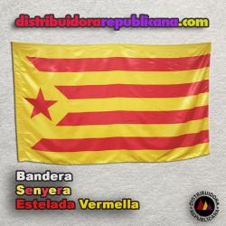 Bandera Senyera Catalana - Estelada Vermella