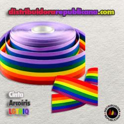 Cinta Arcoíris LGTBIQ de 10 mm.
