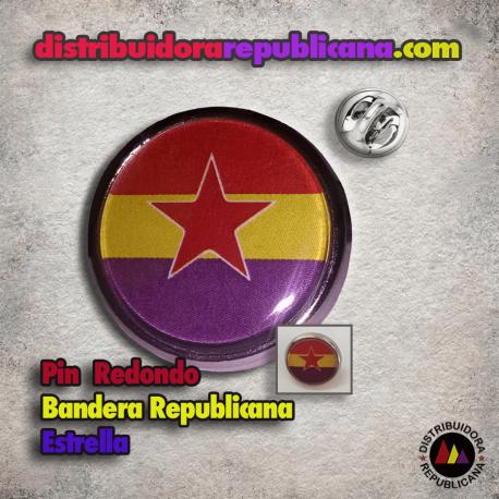 Pin Redondo Republicano Estrella