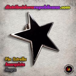 Pin Estrella Anarquista Negra