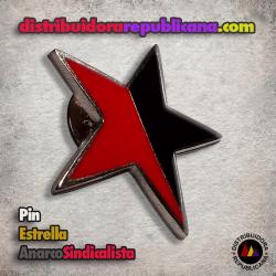 Pin Estrella AnarcoSindicalista