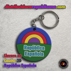 Llavero de Caucho en 3D República Española