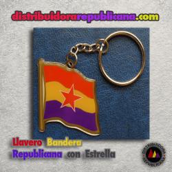 Llavero Bandera Republicana con Estrella del Ejercito Popular
