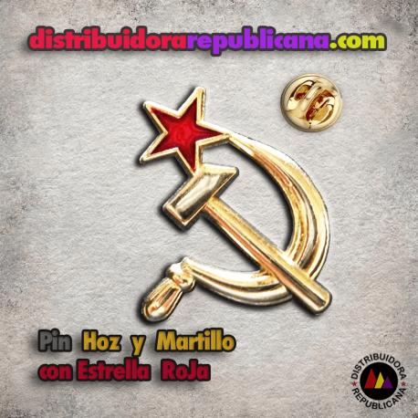 Pin Hoz y Martillo con Estrella Roja