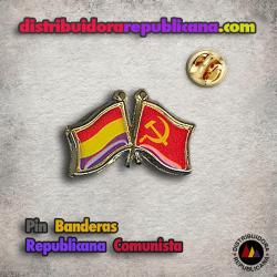 Pin Banderas Republicana y Comunista