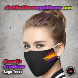 Mascarilla Republicana Logo Trazo