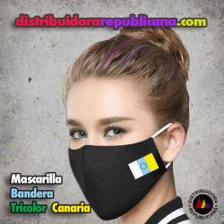 Mascarilla Bandera Tricolor Canaria