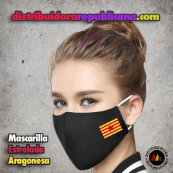 Mascarilla Bandera Estrelada Aragonesa