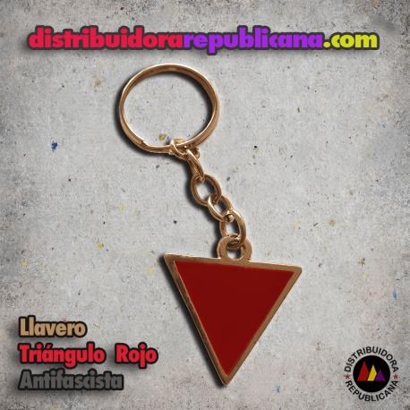 Llavero Triángulo Rojo Antifascista
