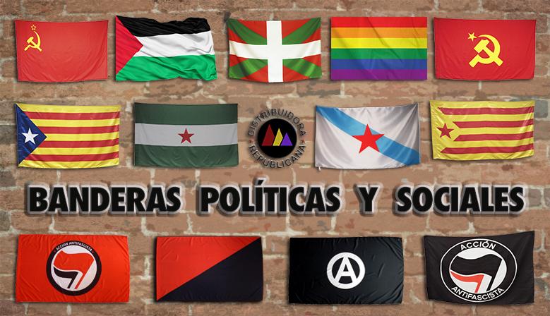BANDERAS POLÍTICAS Y NACIONALES
